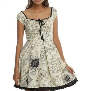 Harry Potter marauders map dress